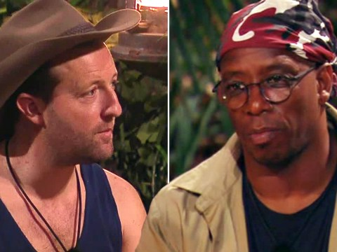 I'm A Celebrity's Ian Wright and Andrew Maxwell clash over crocodile feet – and the footballer got a bit snappy