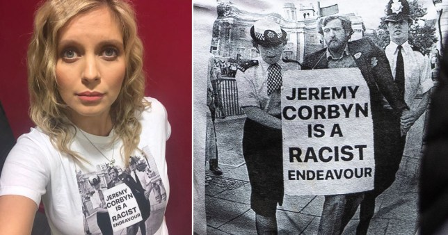 Rachel Riley sparks backlash for 'erasing' Jeremy Corbyn's anti-apartheid message on Photoshopped t-shirt