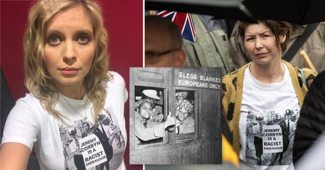 Rachel Riley wore a photoshopped t-shirt saying 'Jeremy Corbyn is a racist endeavour'