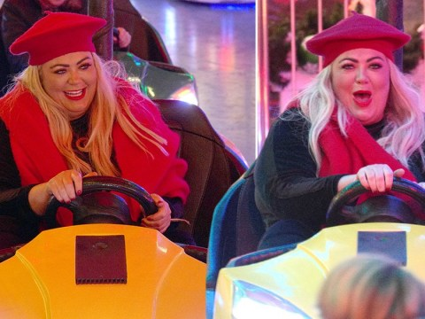 Gemma Collins living her best life on the bumper cars at Winter Wonderland is just so pure