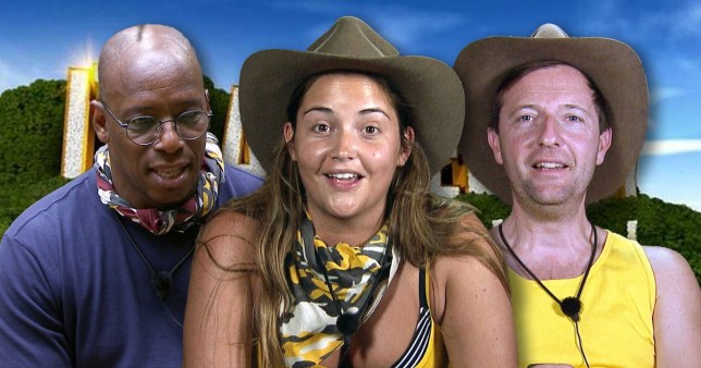 Ian Wright Jacqueline Jossa and Andrew Maxwell