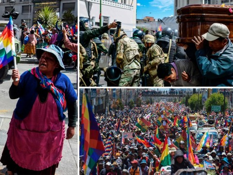 Riot breaks out during funeral procession in Bolivia