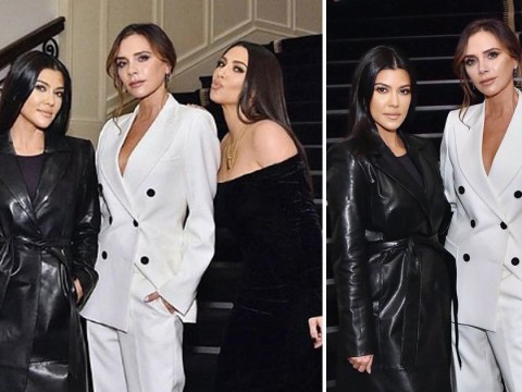Victoria Beckham Keeps Up with the Kardashians as she cosies up to Kim and Kourtney