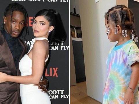 Kylie Jenner's daughter Stormi channels father Travis Scott as she rocks braids in tie-dye shirt