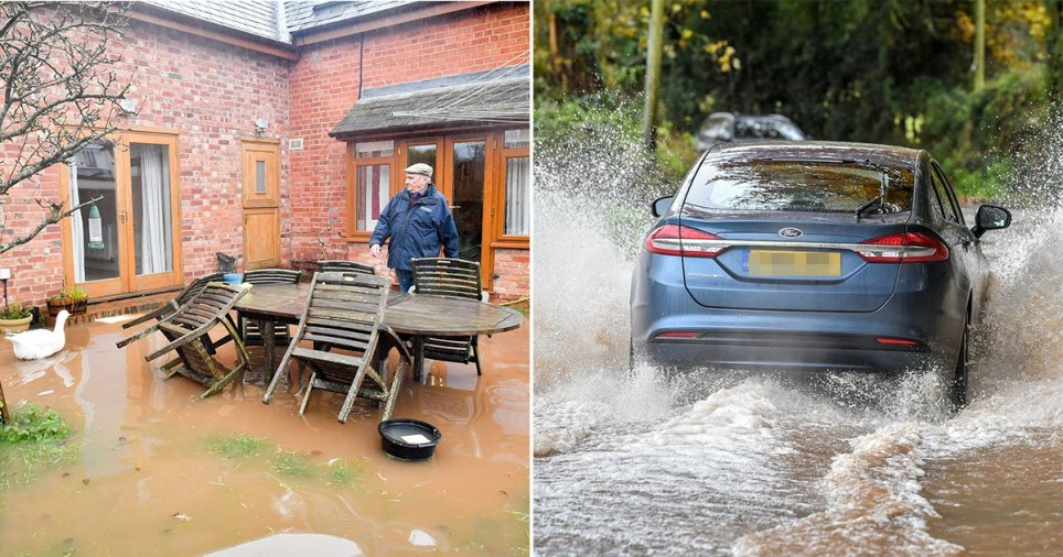 Heavy rainfall has been battering swathes of the UK this afternoon