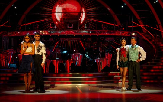 Mike Bushell and Emma Weymouth in the Strictly dance off
