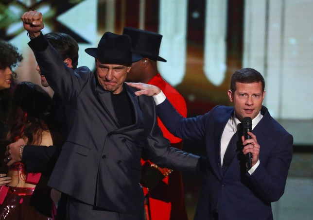 Dermot O'Leary and Vinnie Jones on X Factor: Celebrity