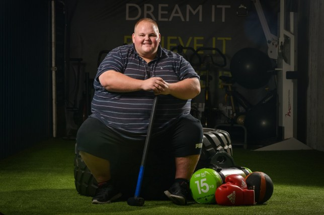 Darren before his weight loss
