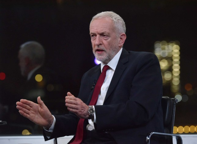 For use in UK, Ireland or Benelux countries only. BBC handout photo of Labour Party leader Jeremy Corbyn during a BBC interview. PRESS ASSOCIATION Photo. Picture date: Tuesday November 26, 2019. See PA story POLITICS Election. Photo credit should read: Jeff Overs/BBC/PA Wire NOTE TO EDITORS: Not for use more than 21 days after issue. You may use this picture without charge only for the purpose of publicising or reporting on current BBC programming, personnel or other BBC output or activity within 21 days of issue. Any use after that time MUST be cleared through BBC Picture Publicity. Please credit the image to the BBC and any named photographer or independent programme maker, as described in the caption.