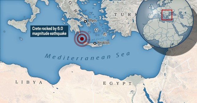 Earthquake hits Crete day after two powerful tremors struck eastern Europe