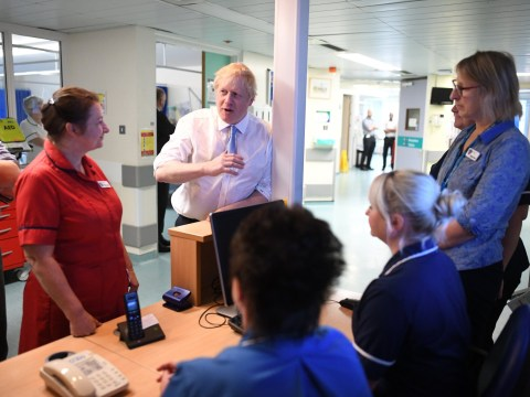 Nurse refuses to shake Boris's hand until he delivers promise of 50,000 new nurses