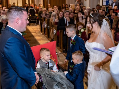 Couple speed up their wedding plans after learning eight-year-old son has four weeks to live