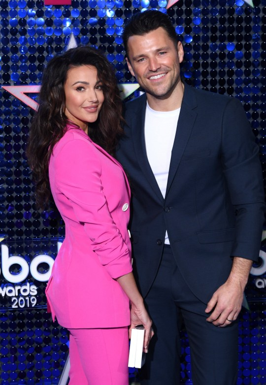 Mandatory Credit: Photo by David Fisher/REX (10146397ej) Michelle Keegan and Mark Wright The Global Awards, London, UK - 07 Mar 2019
