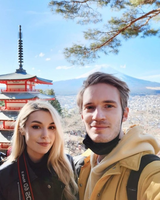 Picture:PewDiePie Inside PewDiePie and Marzia Kjellberg's Japanese getaway