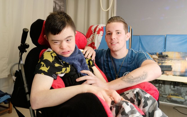 A disabled teenager with Down's syndrome was forced to attend 'degrading' work assessments by the Department for Work and Pensions. Declan Kemp, 19, also suffers from cerebral palsy, a hole in his heart, and scoliosis of the spine - meaning he is permanently confined to a wheelchair. Caption: Declan Kemp 19, from Stockton-on-Tees, Durham, who was made to attend a fit-for-work assessment despite being permanently in a wheelchair