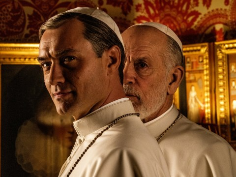 Jude Law wakes up to torment John Malkovich in trailer for The New Pope