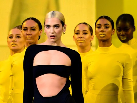 Dua Lipa is a colour block queen as she puts on an epic performance at the MTV EMAs