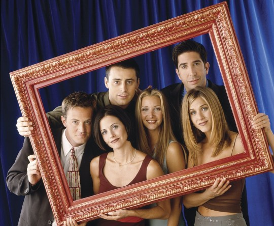 Jennifer Aniston and the Friends cast