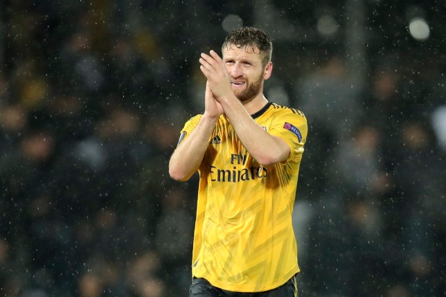 Shkodran Mustafi says Arsenal took their time adjusting to a back three against Vitoria in the Europa League