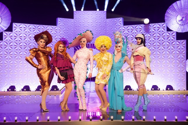 WARNING: Embargoed for publication until 21:30:01 on 31/10/2019 - Programme Name: RuPaul's Drag Race UK - TX: 31/10/2019 - Episode: n/a (No. n/a) - Picture Shows: POST TX - STRICTLY EMBARGOED UNTIL 31/10/2019 21:30:01 The Vivienne, Cheryl Hole, Crystal, Baga Chipz, Blu Hydrangea, Divina De Campo - (C) BBC / World of Wonder - Photographer: Guy Levy