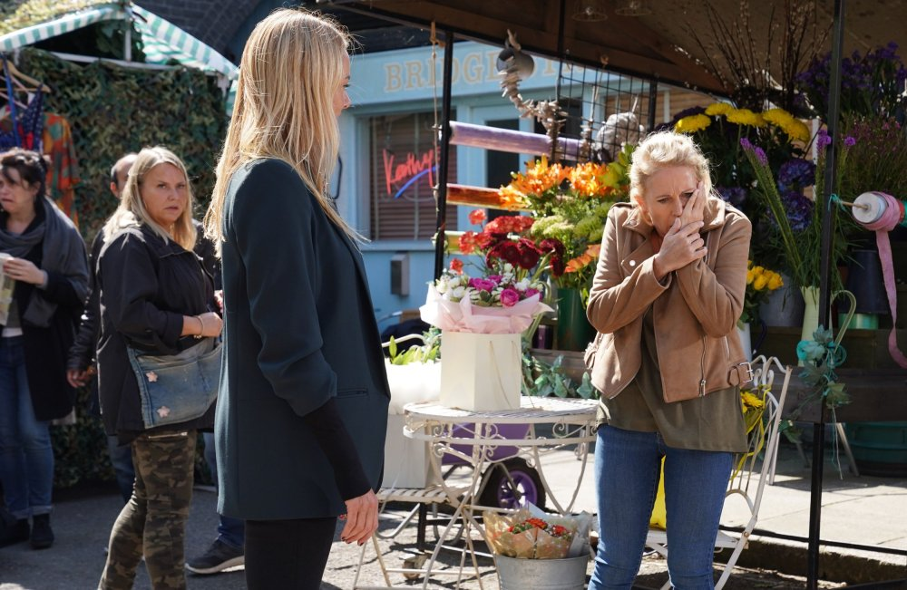 WARNING: Embargoed for publication until 00:00:01 on 09/11/2019 - Programme Name: EastEnders - October - December 2019 - TX: 08/11/2019 - Episode: EastEnders - October - December - 2019 - 6021 (No. 6021) - Picture Shows: *NOT FOR USE PRE-TX WITHOUT PRIOR APPROVAL* Mel Owen (TAMZIN OUTHWAITE), Lisa Fowler (LUCY BENJAMIN) - (C) BBC - Photographer: Kieron McCarron