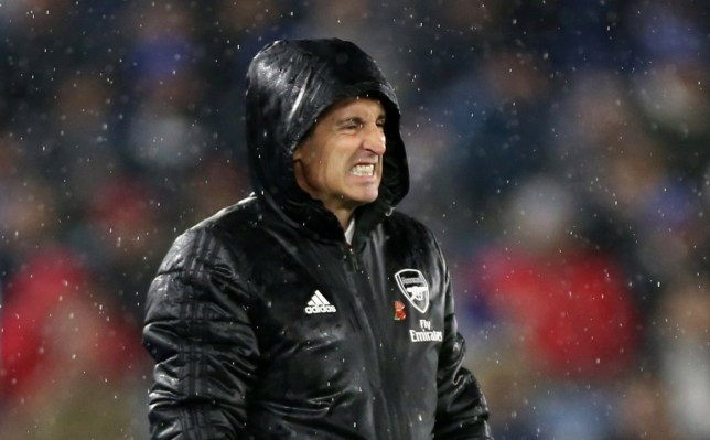 Unai Emery saw Arsenal get beaten by Leicester City