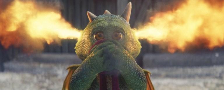 John Lewis Christmas advert's Excitable Edgar the dragon breathes fire