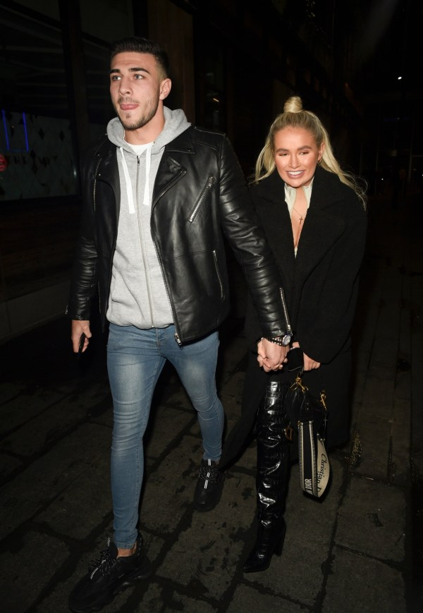 BGUK_1786385 - Manchester, UNITED KINGDOM - STRICTLY NO MAIL ON LINE USAGE Love Island couple Molly Mae Hague and Tommy Fury looking all loved up as they enjoy a date night at The Ivy Restaurant in Manchester STRICTLY NO MAIL ON LINE USAGE Pictured: Molly Mae Hague,Tommy Fury BACKGRID UK 13 NOVEMBER 2019 BYLINE MUST READ: FARRELL / BACKGRID UK: +44 208 344 2007 / uksales@backgrid.com USA: +1 310 798 9111 / usasales@backgrid.com *UK Clients - Pictures Containing Children Please Pixelate Face Prior To Publication*