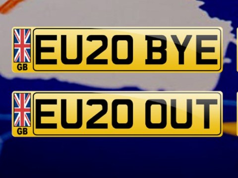 People are buying Brexit number plates like EU20 BYE