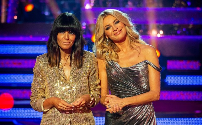 Claudia Winkleman and Tess Daly on Strictly Come Dancing.