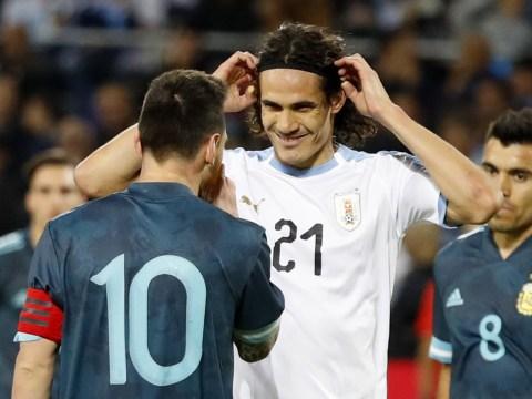 Edinson Cavani offers to fight Lionel Messi during Argentina's clash against Uruguay