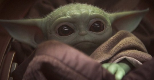 Baby Yoda in The Mandalorian (Picture: Disney+)