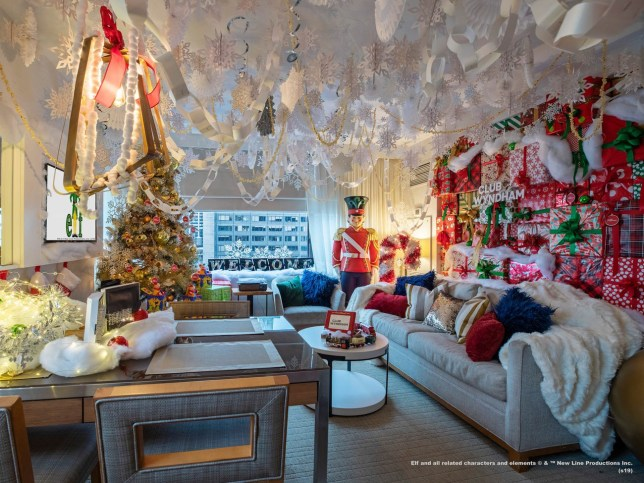 "The 2003 film starring Will Ferrell follows Buddy as he tries to bring Christmas cheer to New York City, making hundreds of paper snowflakes and singing as often as he can. Now, Club Wyndham, part of the world's largest vacation and ownership exchange company, is trying to do the same with a room inspired by ""Elf"" in its New York City location."