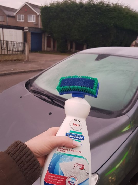 Ice removal trick for car windows Taken without permission