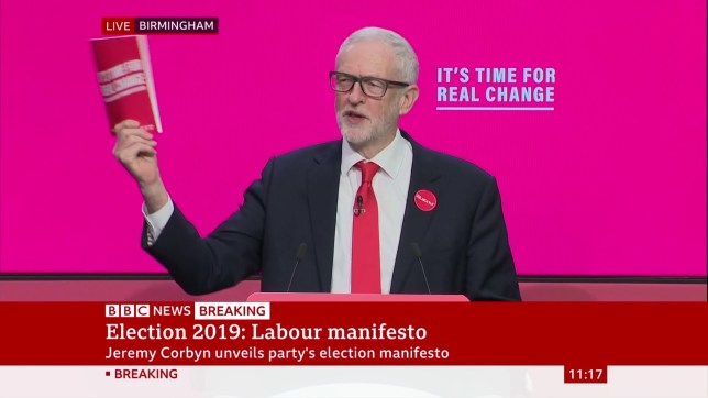 Jeremy Corbyn says he'll nationalise mail, rail, water and energy at manifesto launch