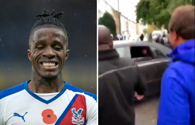 Wilfried Zaha clashes with Chelsea fans after Crystal Palace defeat