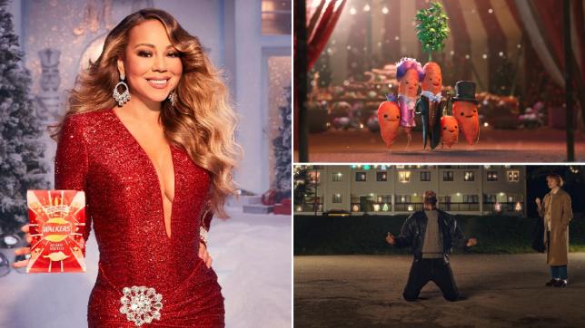 Mariah Carey in the Walkers Christmas ad