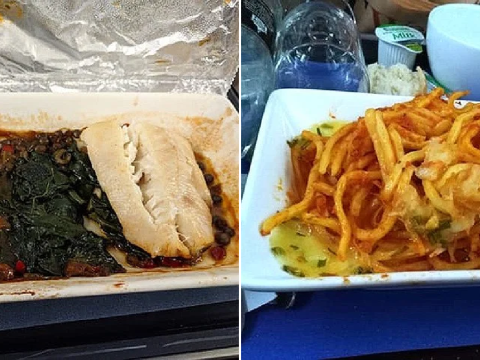 People share photos of their worst plane meals and it will make you never want to fly again
