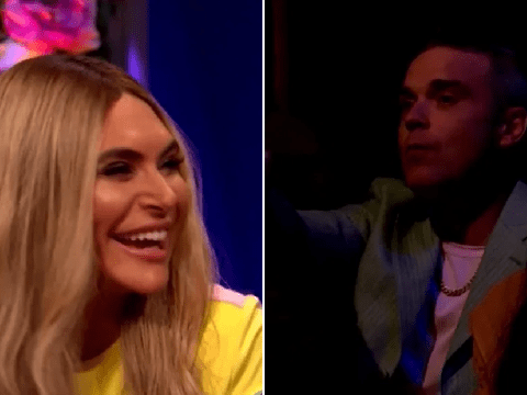 Robbie Williams gatecrashes Celebrity Juice after wife Ayda Field calls out his 'aggressive farting'