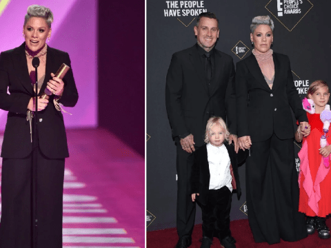 Pink tells viewers to 'stop fighting and help each other' in inspiring People's Choice Awards speech