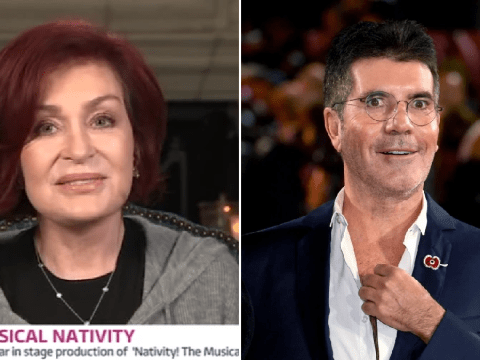 Sharon Osbourne claims Simon Cowell has 'big teeth and a droopy eye' but thinks he looks great