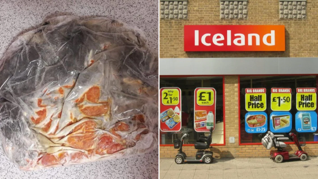 Horrible family get Iceland pizza covered in black mold