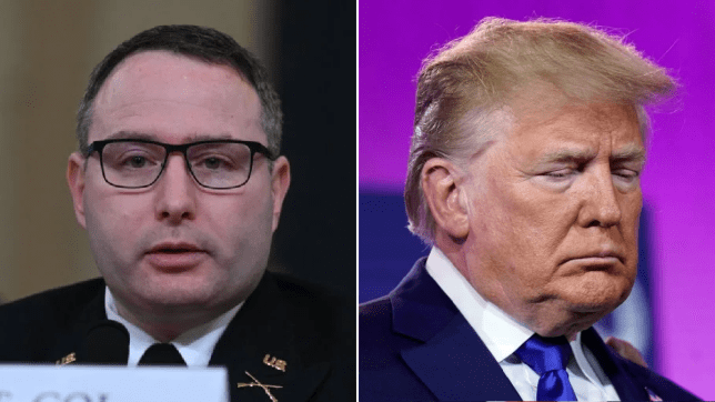 US Army hero blasts 'reprehensible' and 'inappropriate' Donald Trump at impeachment hearing