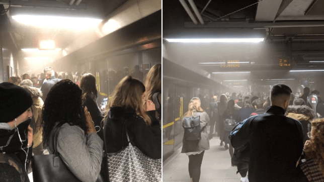 Canary Wharf and Canada Water evacuated after 'dust storm'