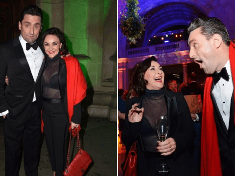 Shirley Ballas's partner Daniel Taylor takes mind off flooded house as pair ham it up at charity gala