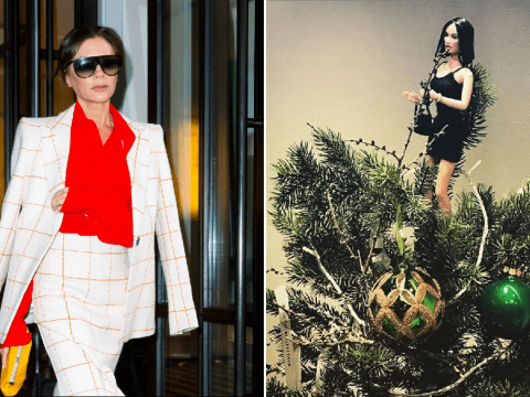 Victoria Beckham is angel at top of her Christmas tree because of course she is