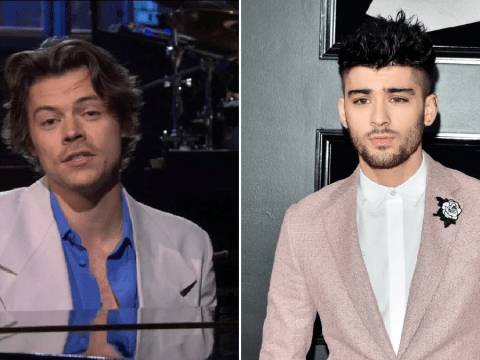 Harry Styles throws shade at Zayn Malik before thanking Simon Cowell for 'growing One Direction in test tubes'