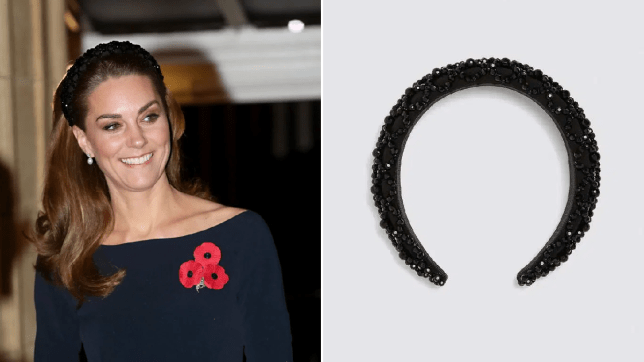 Kate Middleton at the Festival of Remembrance and the Zara headband