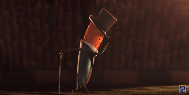 kevin the carrot in the 2019 Aldi christmas advert