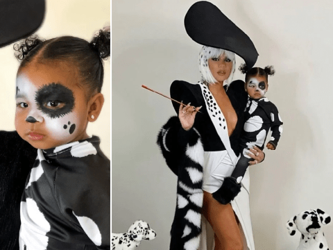 Khloe Kardashian and daughter True Thompson are the ultimate Halloween duo as Cruella De Vil and a Dalmatian